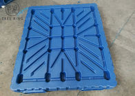 1400 X 1200 Double Face HDPE Plastic Pallets , Beverage Stacking Vacuum Plastic Skids