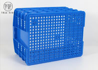 C560 55 Litre Heavy Duty Ventilated Perforated Plastic Stacking Crate Trays For Meat / Poultry