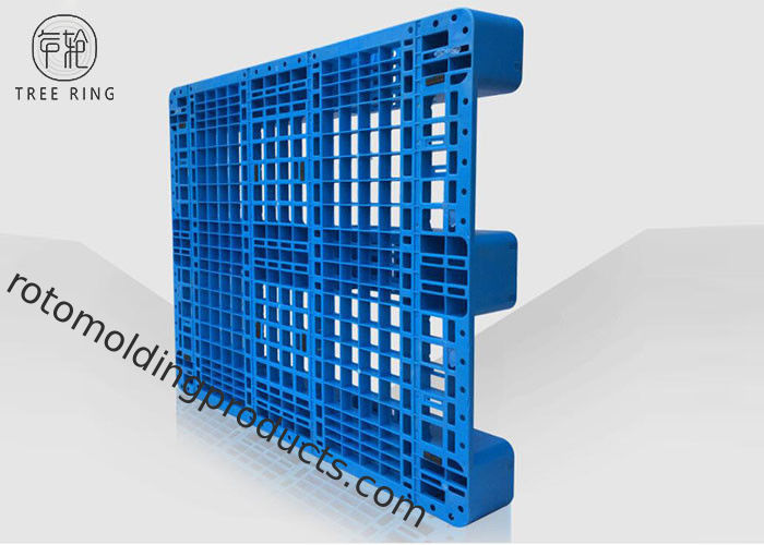 Reversible HDPE Plastic Pallets For Racking Shelf Open Deck Rack 1ton 1200 * 1100