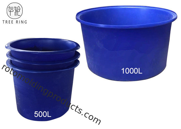 Nestable Cylindrical Large Plastic Water Aquaculture Tubs For Water Storage 500L Polyethylene