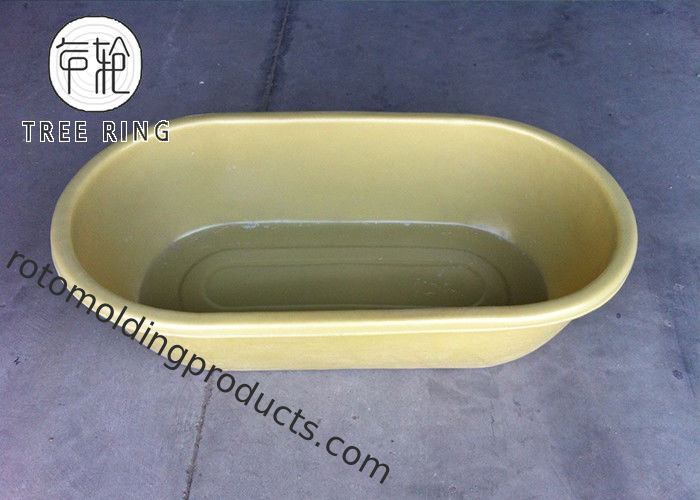50 Gallon Roto Molding Round Trough Poly Oval Stock End Tank With Fitting For Ranching Used