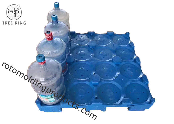 Single Faced 16 Bottles Poly Pallets Stackable Balance 5 Gallon Water Bottles For Supermarket