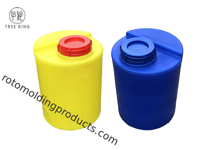 Yellow Color 13 Gallon Dome Top Poly Chemical Dosing Tank For Cooling Water Treatment